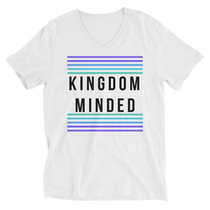 JSFEQUIERE -KINGDOM MINDED-Unisex Short Sleeve V-Neck T-Shirt