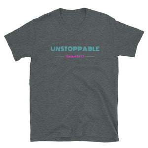 JSFEQUIERE UNSTOPPABLE-Short-Sleeve Unisex T-Shirt (white/grey)