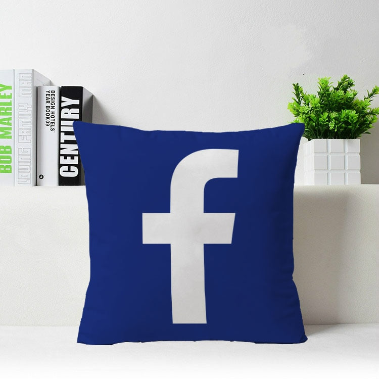 Facebook Themed Pillow Cover