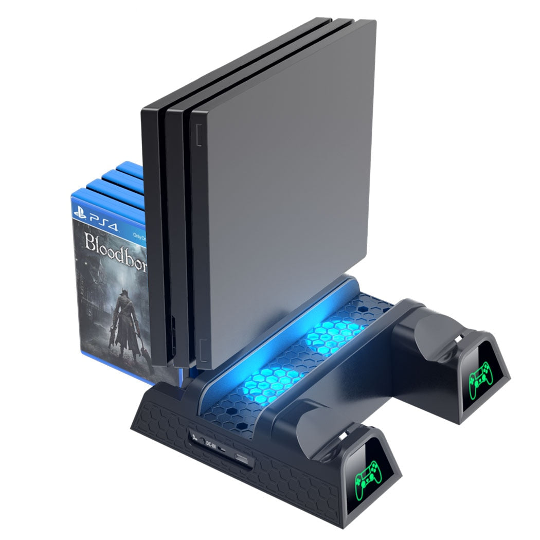 Cooling Stand & Dual Controller Charger Station For PS4/PS4 Slim/PS4 Pro