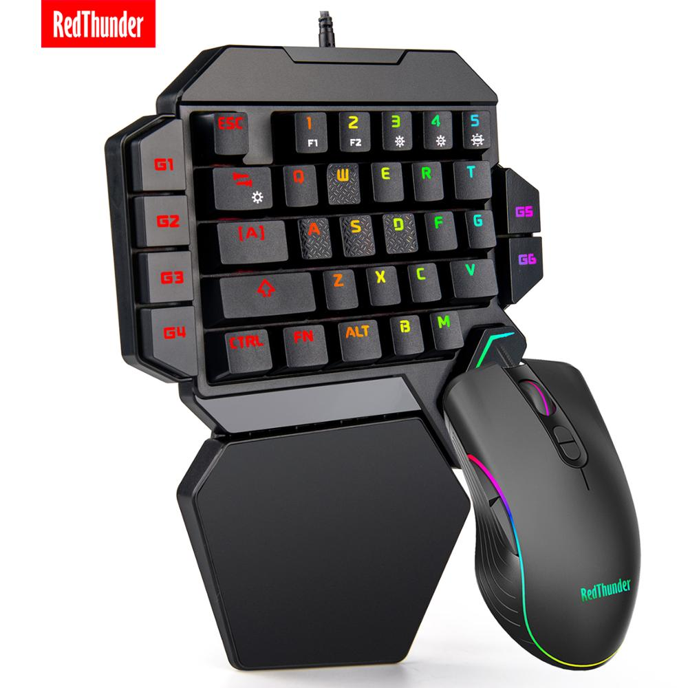 Dream Set! Combo Option is Available! One-Handed Gaming Keyboard RGB & Gaming Mouse
