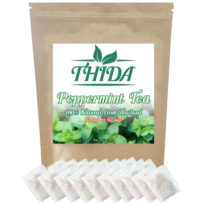 Peppermint Tea 15 Bags | Peppermint Herbal Leaf Tea | Asian Herb Tea Peppermint Leave From Thailand