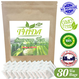 Soursop Tea 30 Bags | 100% Natural Organic | USA Stock - Fast Shipping