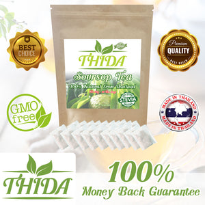Soursop Tea 15 Bags | Asian Herb Tea Soursop / Guanabana / Graviola Leaves Supply From Thailand