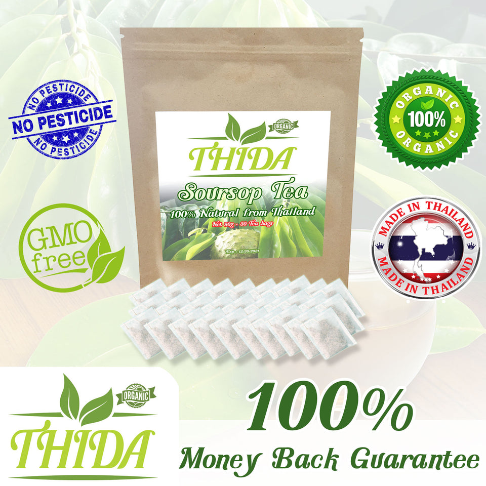 Soursop Tea 30 Bags | 100% Natural Organic | USA Stock - Free Shipping