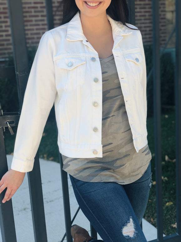 Lucky Brand White Denim Jacket