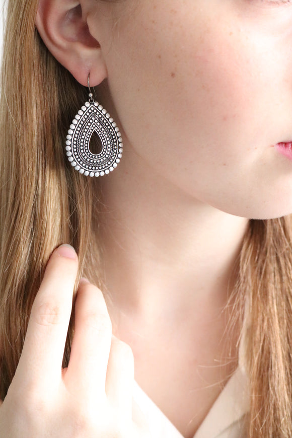 Lucky Brand teardrop silver earrings