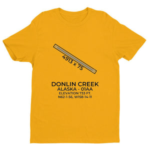 01aa crooked creek ak t shirt, Yellow