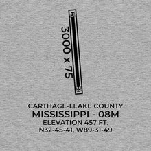 Load image into Gallery viewer, 08m carthage ms t shirt, Gray