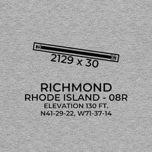 Load image into Gallery viewer, 08r west kingston ri t shirt, Gray