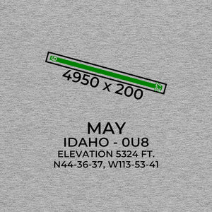 0u8 may id t shirt, Gray