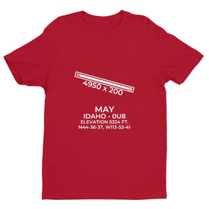 0u8 may id t shirt, Red