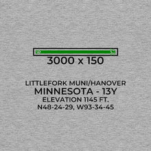 Load image into Gallery viewer, 13y littlefork mn t shirt, Gray