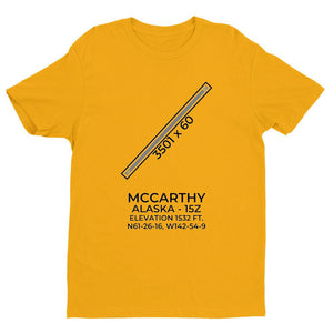 15z mccarthy ak t shirt, Yellow