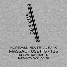 Load image into Gallery viewer, 1b6 hopedale ma t shirt, Gray