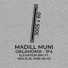 Load image into Gallery viewer, 1f4 madill ok t shirt, Gray