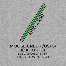 Load image into Gallery viewer, 1u1 moose creek ranger station id t shirt, Gray