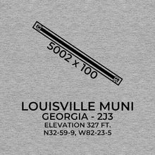 Load image into Gallery viewer, 2j3 louisville ga t shirt, Gray