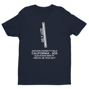 2o3 angwin ca t shirt, Navy