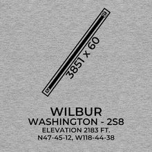 Load image into Gallery viewer, 2s8 wilbur wa t shirt, Gray