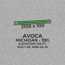 Load image into Gallery viewer, 39G facility map in AVOCA; MICHIGAN