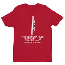 Load image into Gallery viewer, 4b6 ticonderoga ny t shirt, Red