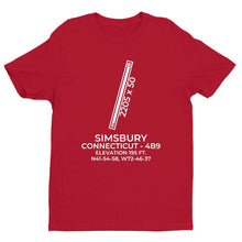 Load image into Gallery viewer, 4b9 simsbury ct t shirt, Red