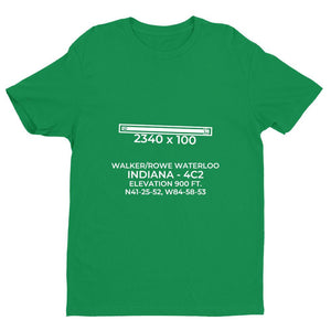 4c2 waterloo in t shirt, Green