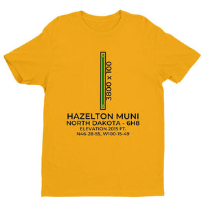 6h8 hazelton nd t shirt, Yellow