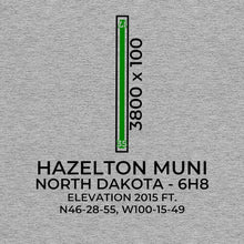 Load image into Gallery viewer, 6h8 hazelton nd t shirt, Gray