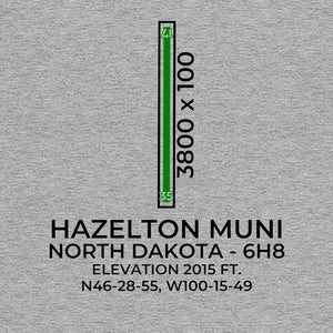 6h8 hazelton nd t shirt, Gray