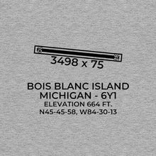 Load image into Gallery viewer, 6y1 bois blanc island mi t shirt, Gray