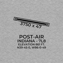 Load image into Gallery viewer, 7l8 indianapolis in t shirt, Gray