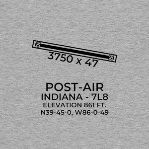 7l8 indianapolis in t shirt, Gray
