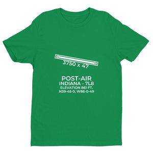 7l8 indianapolis in t shirt, Green