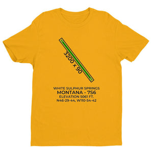7s6 white sulphur springs mt t shirt, Yellow