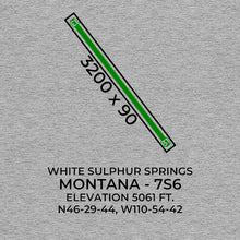 Load image into Gallery viewer, 7s6 white sulphur springs mt t shirt, Gray