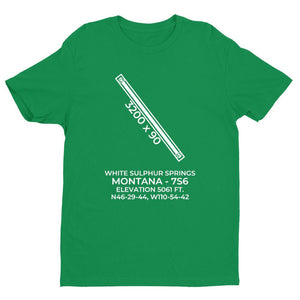 7s6 Green sulphur springs mt t shirt, Green
