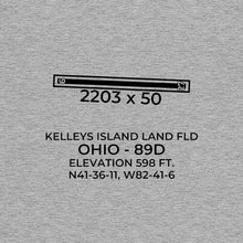 Load image into Gallery viewer, 89D facility map in KELLEYS ISLAND; OHIO