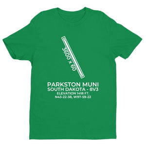 8v3 parkston sd t shirt, Green