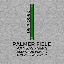 Load image into Gallery viewer, 96ks glasco ks t shirt, Gray
