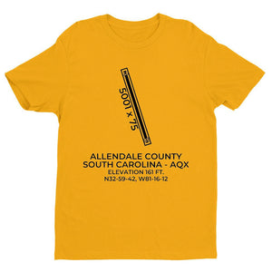 aqx allendale sc t shirt, Yellow
