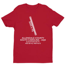 Load image into Gallery viewer, aqx allendale sc t shirt, Red
