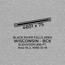 Load image into Gallery viewer, bck black river falls wi t shirt, Gray