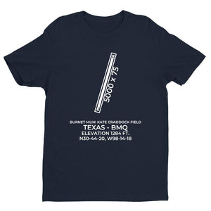 bmq burnet tx t shirt, Navy