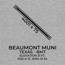 Load image into Gallery viewer, bmt beaumont tx t shirt, Gray