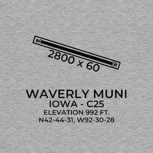 Load image into Gallery viewer, c25 waverly ia t shirt, Gray