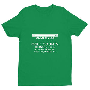 c55 mount morris il t shirt, Green