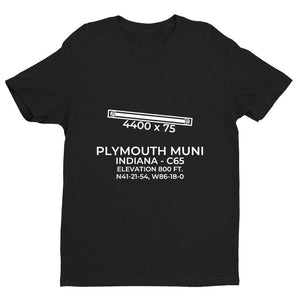 c65 plymouth in t shirt, Black
