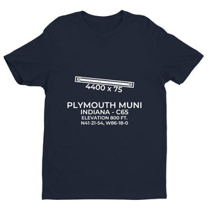 c65 plymouth in t shirt, Navy